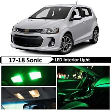 Green Interior Map License Plate LED Light Package Kit Fit 2017-2018 Chevy Sonic