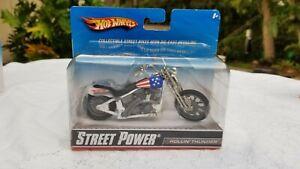 New Hot Wheels Motorcycles Street Power Race Bike Rollin Thunder Mattel 2009