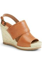 Biala Women's Joyce Perforated Espadrille Wedge Brown Leather Sandal  9 ns11/23
