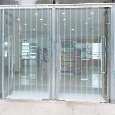 """VEVOR 6' x 9' Strip Curtain Door Kit 72"""" x 108"""" Walk In Cooler Freezer PVC Vinyl"""