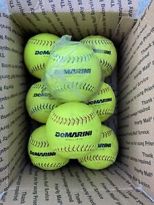 """lot of 8 softballs 12 inch 12"""" Softballs DeMarini Lightning FREE  SHIPPING"""