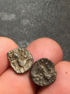Celtic Iceni Silver Units X 2 Hammered Coins