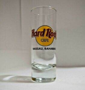Hard Rock Cafe  Shot Glass Nassau Bahamas Travel Souvenir Shooter