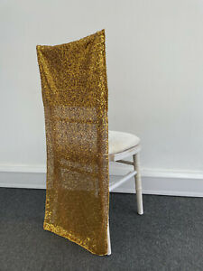 XMAS GOLD SEQUIN CHAIR COVERS FOR CHIVARI CHAIRS WEDDING EVENT PARTY CHAIR DECOR