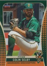 2019 Greensboro Grasshoppers Colin Selby RC Rookie Pittsburgh Pirates