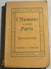 """1930 - L'HUMOUR est enfant de PARIS """"Humour & Fantaisie"""""""
