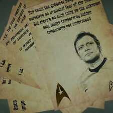 More details for star trek  quotes  with gold leaf. x 6