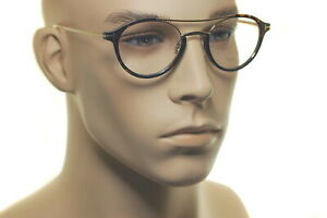 TOM FORD FT5515 052 49mm Men Large Round Oval Frame Eyeglasses GOLD HAVANA BROWN