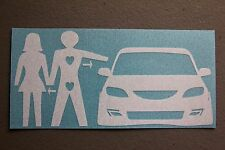 MS3 Love Triangle Sticker Decal JDM Mazdaspeed 3 Hatchback 3 Speed illest funny