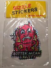 Vintage 1970s Large ROTTEN MEAN & NASTY Red Devil Prism Decal Sizzle Stickers