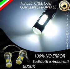 COPPIA LAMPADE H3 LED BIANCO XENON CREE COB ALTA LUMINOSITA' CANBUS