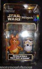 Disneyland Star Wars Muppets Bean Bunny & Chicken Wicket & Stormtrooper Figures
