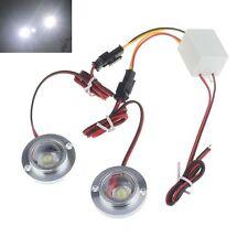 Accessoire Voiture 12V 2 LED Lumière Stroboscopique Urgence Avertissement Flash