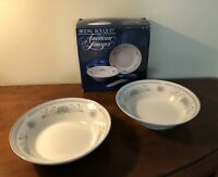 American Limoges China Bowls ~ Bridal Bouquet Pattern ~ 2 Bowls. Lot of 2. *NEW*