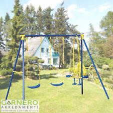 Altalena bambini SMILE 5 posti struttura acciaio gioco bambino giardino sicuro