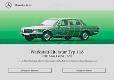 Mercedes-Benz  W 116 Reparaturanleitung  auf CD wis 116!