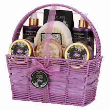 Spa Gift Basket for Women, Bath and Body Gift Set, Luxury 8 Piece,Lily & Lilac
