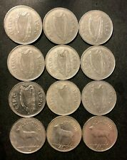 Old Ireland Coin Lot - PUNT - 12 Excellent Irish Elk Coins - Lot #F21