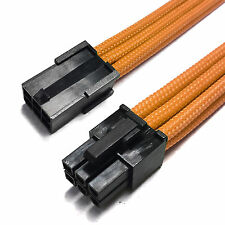 6 Pin PCIE PSU Extension Cable Orange Sleeved 30cm + 2 Free cable Combs Shakmods