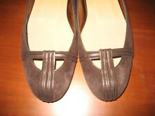 $395 NWOB Donna Karan Collection Brown Suede Leather Ballet Flats 38.5 8 M Italy