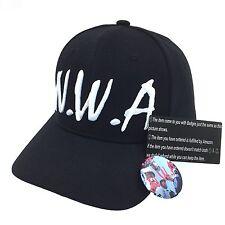 NWA Dad Hat 3D Embroidered Snapback Baseball Cap Adjustable Black