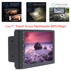 Car 7'' Full Touch Screen Multimedia MP5 Player Radio Car Stereo FM BT 2 USB GPS