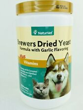 NaturVet BREWERS Dried Yeast Formula Powder for Dogs and Cats 1 lb 7/22 Vitamins