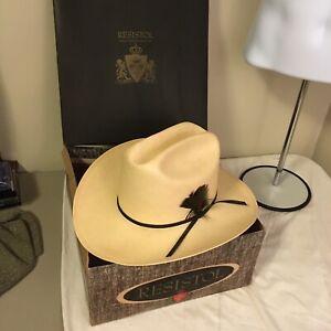 Vtg 1960s Resistol Self Conforming Western Cowboy Hat Vinylcote Straw 7 1/8 NOS