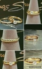 Yellow Gold Simulated Engagement Fine Rings