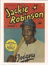 "JACKIE ROBINSON SPORTS IMMORTALS KITCHEN SINK 1993 (3"" x 4"") CARD #24  NM"