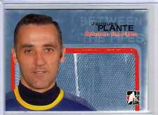 JACQUES PLANTE 04/05 ITG Between the Pipes Goalie #14 Hockey Card