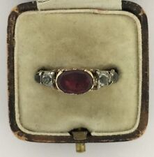 & Paste Ring Circa 1800's A Fabulous Georgian 1.5ct Garnet