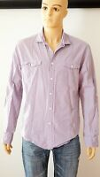 Ted Baker London Tartan Violet/White Men`s Shirt Size-6 Used 100% Cotton Comfort