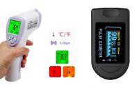 Termometro infrarossi no-contact, termoscanner + Saturimetro, ossimetro.