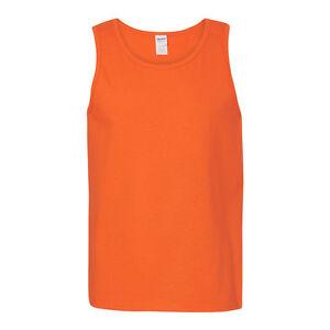 Gildan Mens Heavy Cotton Tank Top T-Shirt Plain Tee Muscle Gym Sleeveless - 5200