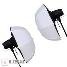 2pcs // 85cm Photo Umbrella - SOFTBOX - white / black - F&V