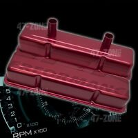 ANODIZED RED ALUMINUM STAMPED TALL VALVE COVERS FOR CHEVY SB 283 305 327 350 400