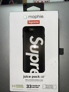 Supreme Mophie Juice Pack Air iPhone 7/8 Slim Protective Battery Case Black Used