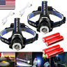 650000Lumen T6 LED Zoomable Headlamp USB Rechargeable 18650 Headlight Head Torch
