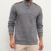 US Polo Assn. Herren Pullover, Pulli, Mock Neck Sweater, Alle Großen