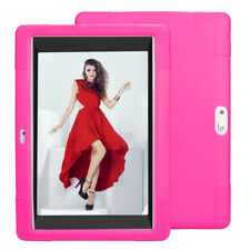 Universal Tablet Hülle Für 10/10.1 Zoll Android Tablet PC Silikon Tasche Pink DE