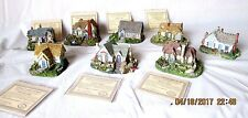 Lot of 8 Thomas Kinkade Candlelight Cottage Series Collection Coa Numbered