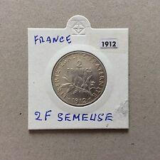 Pièce de 2 F en argent France Semeuse 1912