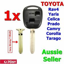 Toyota Key Shell / Case Corolla Yaris Prado RAV4 Echo Blank Two Button With Logo