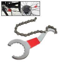 3 In 1 Bike Chain Whip Cassette Bracket Freewheel Wrench Repair Remover Too B2E5