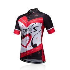 Women's Bike Jersey Cat Love Ladies Road Bike Mtb Biking Short Jersey Shirt