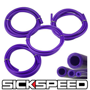 3 METER SILICONE HOSE KIT SET FOR ENGINE BAY DRESS UP 4MM 6MM 8MM 12MM PURPLE P2