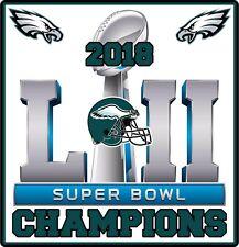 "Philadelphia Eagles 2018 Super Bowl Champions Vinyl Decal Sticker 4"" Champs NEW"