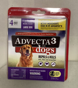 Advecta 3 for Large Dogs 21 - 55 lbs 4 Month Supply Sealed