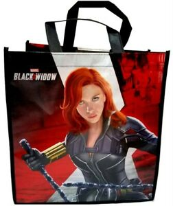 Marvel Black Widow  13 x 12 x 7 in. Reusable Tote Shopping Bag, 1 pc.